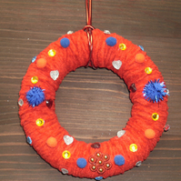 Hand made Christmas wreath