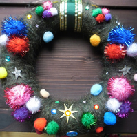 Large hand made  Christmas wreath