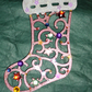 Christmas stocking shaped Christmas tree decoration
