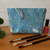 'Swan & Heron' Fabric Make Up Bag Case