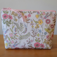 Liberty Floral Fabric Make Up Cosmetics Case Bag