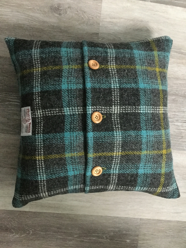 Handmade Harris Tweed cushion, home decor, accent cushion