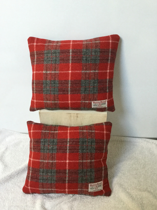 Handmade Harris Tweed cushion, home decor, accent cushion, gift