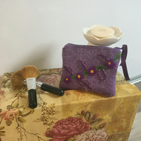 Harris Tweed makeup bag, gift, handmade