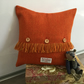 Handmade Harris Tweed fringe cushion, home decor, accent cushion, gift