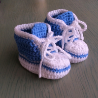 Crocheted converse sneakers