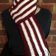 Lovely crocheted scarf
