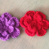 Lovely crocheted broaches