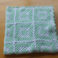 Lovely crocheted baby blanket