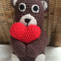 Gorgeous crocheted teddy bear