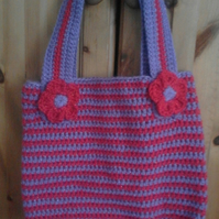 Gorgeous sparkly crocheted bag