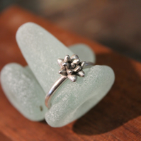 Silver Succulent Ring Made on Isles of Scilly. Sterling Gift for Her Jewellery