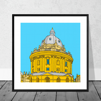 The Radcliffe Camera Print in 10 x 10 inch Mount