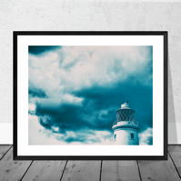 Southwold Lighthouse Print in 12 x 10 inch Mount