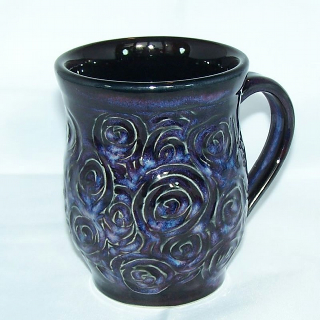 Wheel thrown textured mug 18-60