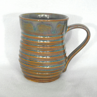 18-36 Wheel thrown ridged mug - CLEARANCE PRICE