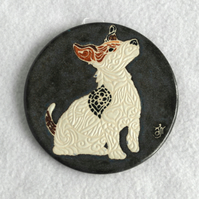 WP02 Wall plaque coaster jack russell terrier jrt dog (Free UK postage)