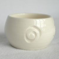 17-260 Hand thrown stoneware porcelalin pottery tea light holder