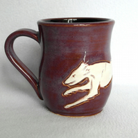 18-149 Running Dog Mug Saluki Lurcher Greyhound Whippet - CLEARANCE PRICE