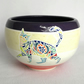 19-128 Bowl with colourful cats design