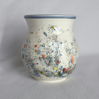 19-126 Vase with multi-coloured speckled glaze
