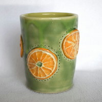 18-184 Citrus Slice Ceramic Tumbler