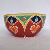 19-184 Patterned bowl (Free UK postage)