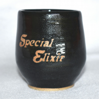 Special Elixir wheel thrown pottery wine cup tumbler (Free UK postage)