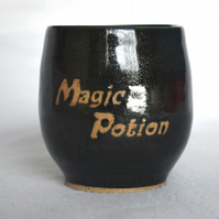 Magic Potion wheel thrown pottery wine cup tumbler (Free UK postage)