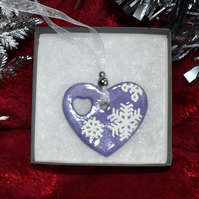 Heart shaped Christmas tree decoration (Free UK postage)