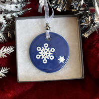 Round Christmas tree decoration (Free UK postage)