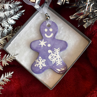 Gingerbread man Christmas tree decoration (Free UK postage)