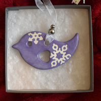 Bird Christmas tree decoration (Free UK postage)