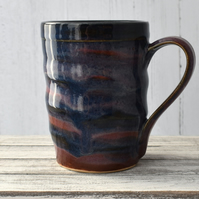 18-398 Striped Ceramic Stoneware Mug (UK postage included)