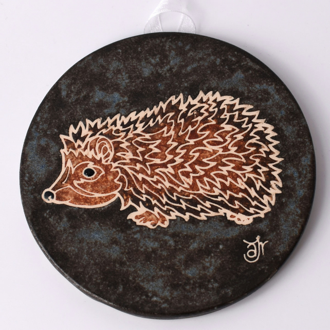 A68 Wall plaque coaster hedgehog (Free UK postage)
