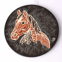 A67 Wall plaque coaster horse (Free UK postage)