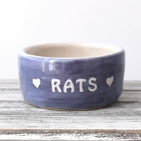 19-404 Pet rat bowl RATS (UK postage free)
