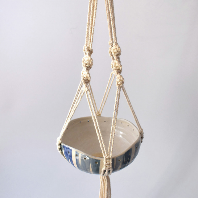A31 Hand thrown hanging planter