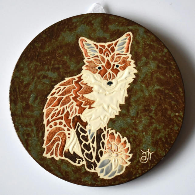 A91 Wall plaque coaster fox (Free UK postage)