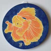 A125 Wall plaque coaster fish (Free UK postage)