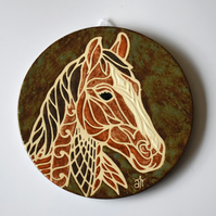 A127 Wall plaque coaster horse (Free UK postage)