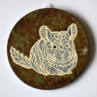 A130 Wall plaque coaster chinchilla (Free UK postage)