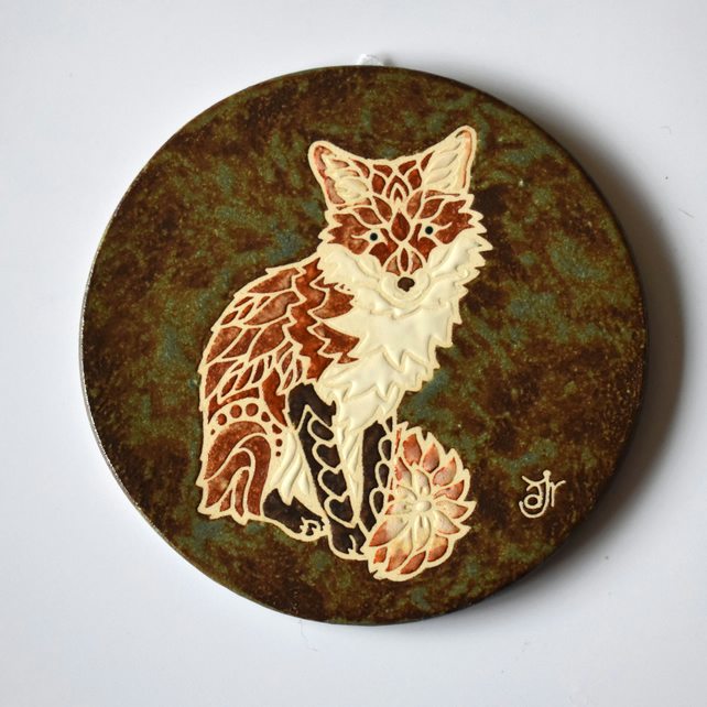 A133 Wall plaque coaster fox (Free UK postage)