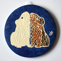 A114 Wall plaque coaster guinea pig cavy (Free UK postage)