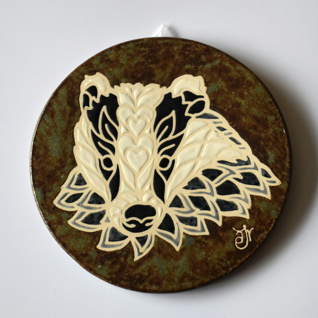 A116 Wall plaque coaster badger (Free UK postage)