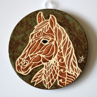A118 Wall plaque coaster horse (Free UK postage)
