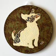 A124 Wall plaque coaster jack russell terrier (Free UK postage)