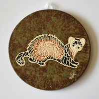 A137 Wall plaque coaster ferret (Free UK postage)