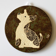 A138 Wall plaque coaster jack russell terrier (Free UK postage)