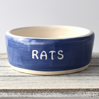 A167 Pet rat bowl RATS (UK postage free)